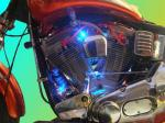 Custom painwork, engine lighting, HT leads and chrome.