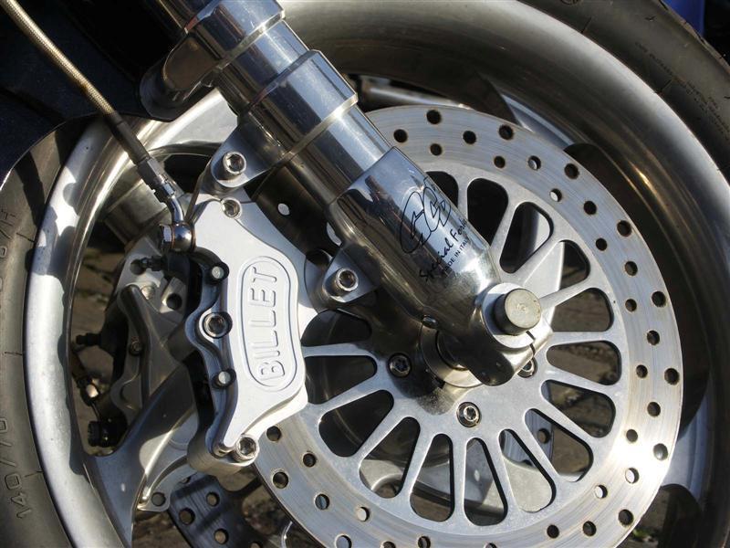Billet brake and custom forks.