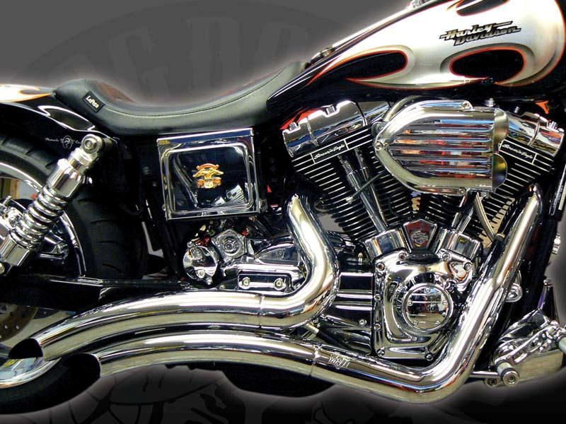Mix custom paint, chromed engine and performance parts.